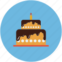 birthday, cake, dessert, party cake icon