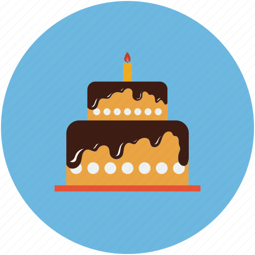 birthday, cake, dessert, party cake icon