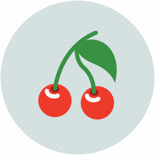 cherries, fresh food, fruit, tropical icon