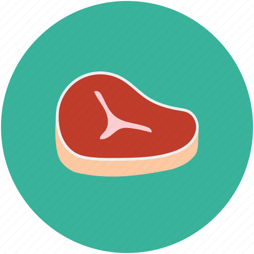 food, meat, salmon steak, steak icon