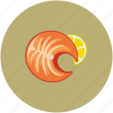 chicken, food, lemon serving, roast icon