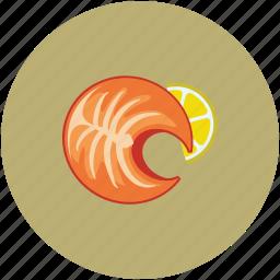 chicken, food, lemon serving, roast icon