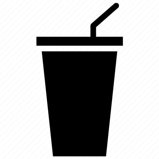 disposable cup, drink, drink with straw, paper cup icon