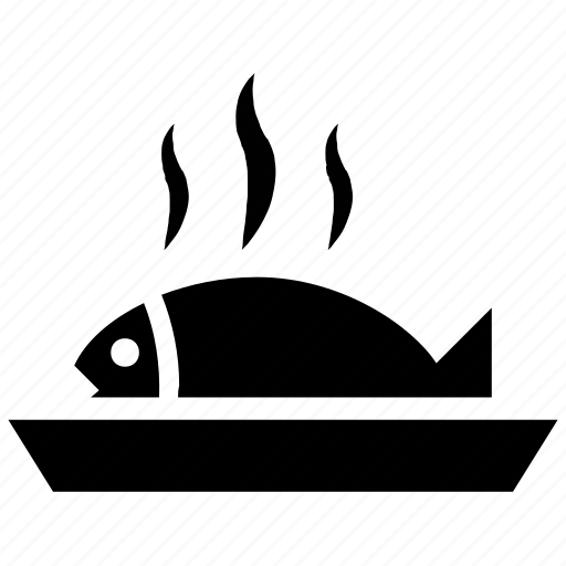 cooked fish, fish, fish meal, sea food icon