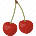 cherries, cherry, fruit icon