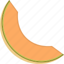 canteloupe, melon, slice icon