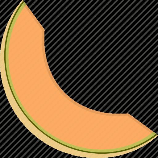 canteloupe, melon, slice icon