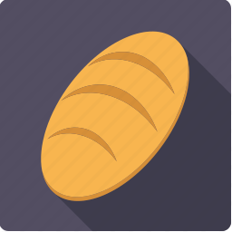 baked, bread, food, loaf icon