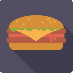 bun, cheeseburger, fast food, food, hamburger, junk food, meat icon