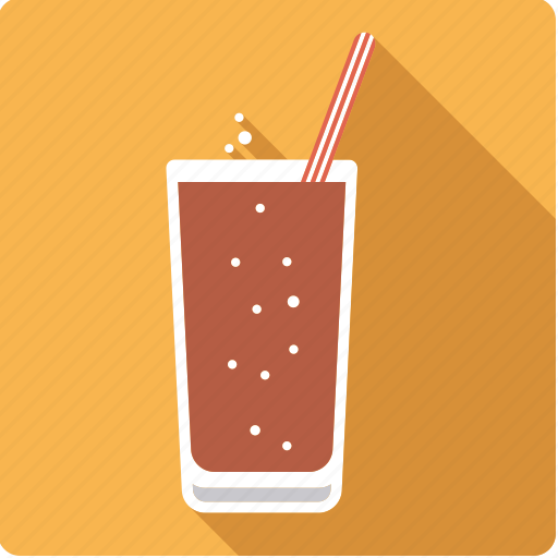 beverage, cola, drink, glass, lemonade, soft drink, straw icon