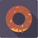 chocolate, crumbles, donut, pastry, sweet, topping icon