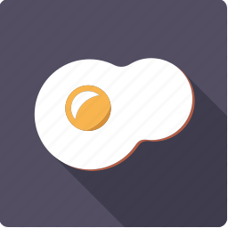 egg, food, fried, yolk icon