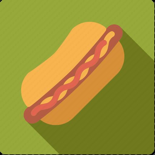bun, fast food, food, hotdog, junk food, ketchup, sausage icon