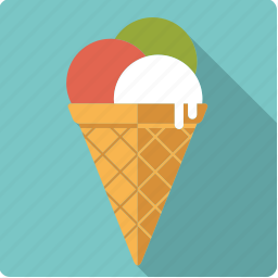 cone, food, ice, ice cream, italian, scoop, waffle icon