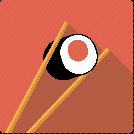 asian, chopsticks, food, japanese, rice, sushi, tuna icon