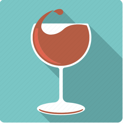 alcohol, beverage, drink, drop, glass, red, wine icon