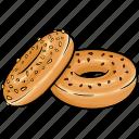 bagel, bakery, bread, bun icon