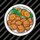 chicken, cuisine, meat, teriyaki icon