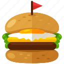bakery, bread, club, cooking, food, meal, sandwich icon