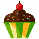 bakery, cake, cupcake, dessert, food, muffin, sweet icon