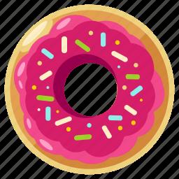 bakery, donut, doughnut, eat, food, sweet icon