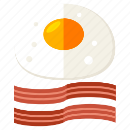bacon, breakfast, cook, egg, eggs, food icon
