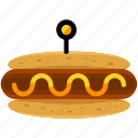 hotdog, fast, food, hot, sausage, takeout icon