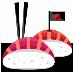 asian, flag, food, japan, japanese, roll, suchi icon