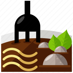 bowl, chinese, eat, food, fork, noodles icon