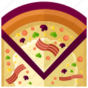 eat, food, meal, pizza, restaurant, slice icon