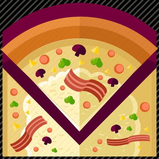 Pizza, eat, food, meal, restaurant, slice icon - Download on Iconfinder