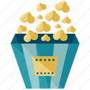 cinema, corn, food, maize, popcorn, snack icon