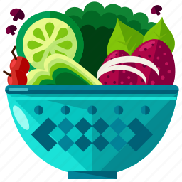 eat, food, healthy, meal, salad, vegetable icon