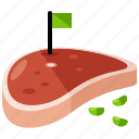 barbecue, eat, food, meat, steak icon