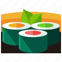 eat, food, japanese, meal, roll, sushi icon