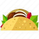 fast, food, mexican, sandwich, taco icon