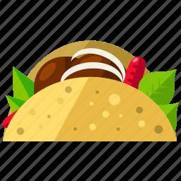 fast, food, mexican, sandwich, taco icon