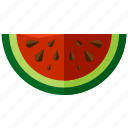 food, fruit, healthy, melon, water, watermelon icon