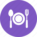 cutlery, eat, food, fork, meal, plate, spoon