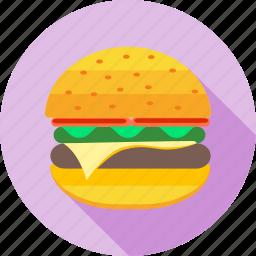 burger, cheeseburger, fastfood, food, hamburger, junk, sandwich icon