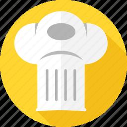 cap, chef, cooking, hat, hotel, restaurant, toque icon