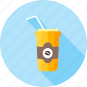 beverage, cocktail, coffee, cold coffee, costa, drink, milkshake icon