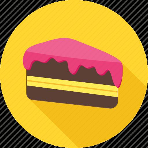 bakery, cake, chocolate, cream, dessert, pastry, snack icon