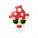 fly agaric, lips, mushroom, spot, sunglasses icon