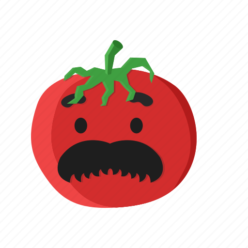 eye, mustache, red, tomato, vegetables icon