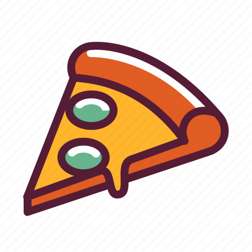 pizza, snack icon