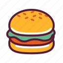 burger, hamburger, snack