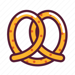 pretzel, snack icon