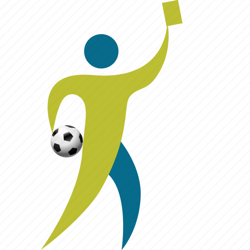 arbitrator, athlete, ball, card, football, game, goal, match, people, person, play, player, red, soccer, sport, yellow icon