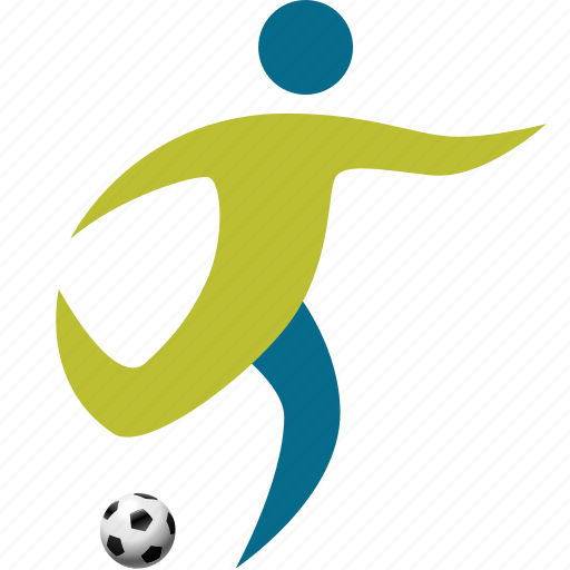 athlete, football, game, goal, match, people, person, play, player, soccer, sport icon